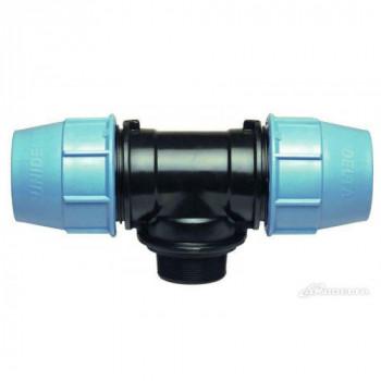 TEE A 90° CON DERIVAZIONE MASCHIO DE (mm) x Pollice 16X1/2MX16